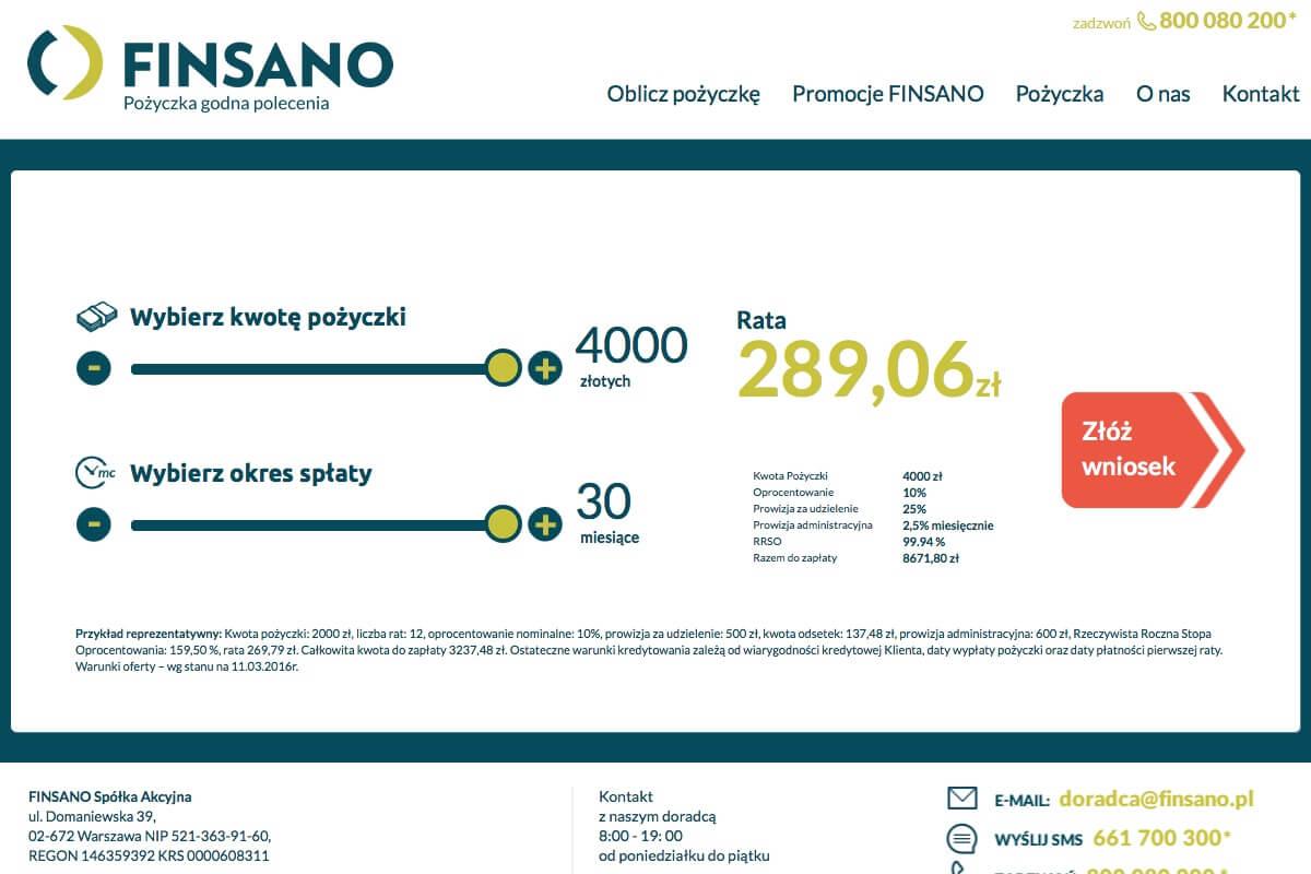 Finsano szybka pożyczka do 4000 zł - www.finsano.pl - AAA pożyczka.