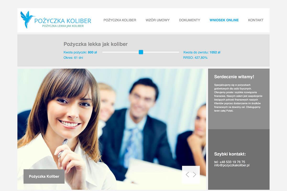 www.pozyczkakoliber.pl